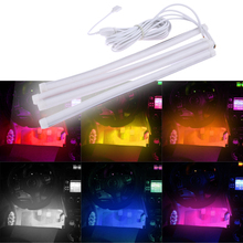 Fashion New Car Neon Light Lamp LED Kit Interior Decorative Atmosphere Wireless 7color RGB Voice Sound Music Control Car Lighter
