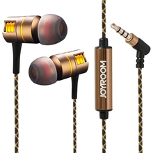 Buy JOYROOM Metal Earphone Heavy Bass Headset Noise Canceling Earbuds Xiaomi Huawei iPhone Earphone 3.5mm Jack 3 Size Earmuffs for $11.89 in AliExpress store