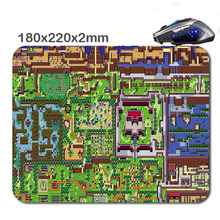 The Legend of Zelda Map Mouse Pad Rubber Soft Mousepad Quadrate Non-slip Backing.Durable office and gift.18x22x2cm and 29x25x2cm