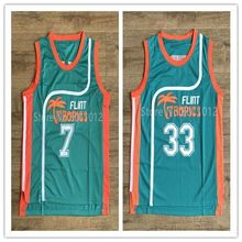 #33 Jackie Moon #7 Coffee Black Youth Flint Tropics Semi Pro Costume Movie Basketball Jersey S-XL for Kid Children(China)