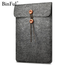 "BinFul Laptop Cover Case For Macbook Pro/Air/Retina Notebook Sleeve bag 12''11""13""15"" Wool Felt Ultrabook Sleeve Pouch Bag 13.3"