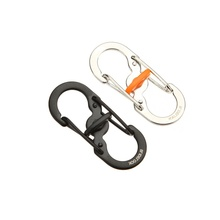 New Promotions 8 Shape Plastic Steel Carabiner Key Chain Hook Clip Outdoor Camping Hiking Snap Random