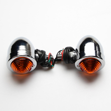 Universal Custom Chrome Mini Motorcycle Bulb Turn Signals Front Rear Light for Most Motorcycle Models Honda Kawasaki Suzuki