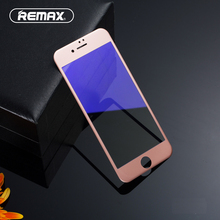 Buy REMAX 3D Tempered Glass Full Cover Screen Protector iPhone 7 7 Plus 9H Anti Blue Light Soft Edge Cambered Protective Film for $6.65 in AliExpress store