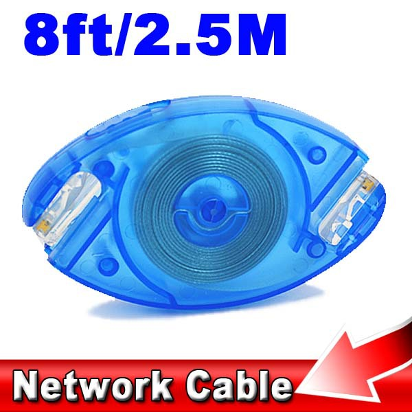 Portable High Speed 8Pin 8FT 2.5M Scalable Retractable Ethernet LAN Network Cable Cat5 RJ45 Cable Cord for PC Desktop Laptop(China)