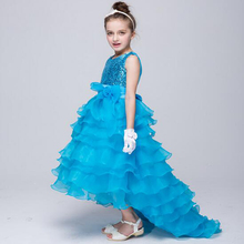 Children Wedding Dress New Glitter Dresses Evening Party Trumpet/Mermaid Sleeveless Program Performance Costumes(China)