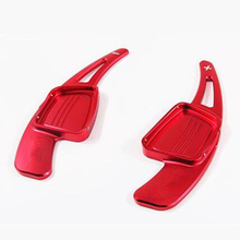 1 Pair Aluminum Steering Wheel Shift Paddle Extension Shifter Replacement For Audi TTS 2015 2016 -Red Colour