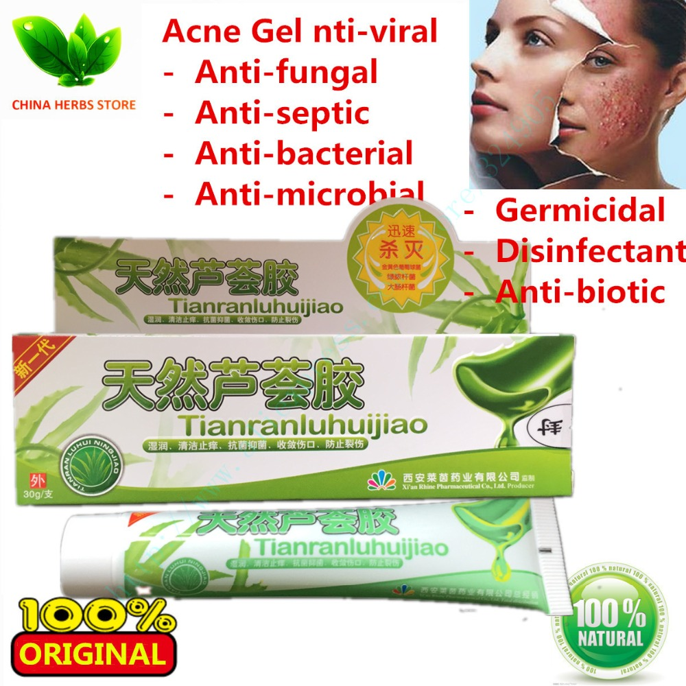 2 boxes Anti-acne skin gel chinese eczema cream acne removal Dispelling Cream Acne removal Skin Care Aloe Vera Gel Anti-Acne<br><br>Aliexpress