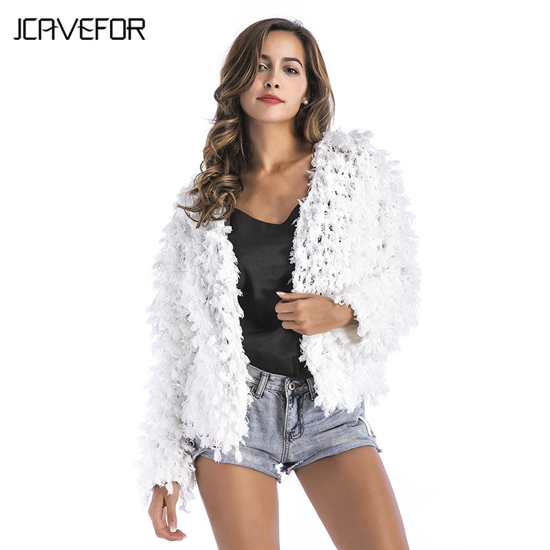 2018 New Casual Long Knitted Short Sweater Women Slim Female Autumn Winter Long Sleeved White Cardigan Party Coat