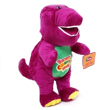 "Barney Plush Toys Cute Purple Barney Singing DinosaurToys Movie&TV Character 40CM Sing "" I LOVE YOU "" Valentine's Day Gifts(China)"