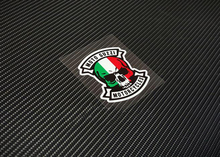 2pc/lot retro motorcycle stickers autocollant skull tricolore Italy flag rocker motocross sticker windshield decals bike ATV