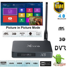 4K UHD Android 6.0 Quad-Core DDR4 2G 16G Ram Smart TV Box Media Player Support SATA USB 3.0 PIP HDMI In Capture Recorder DVR