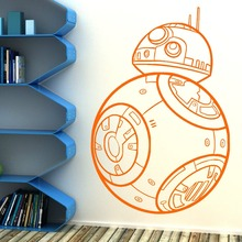 ECO-FRIENDLY STAR WARS BB-8 DROID THE FORCE AWAKENS Vinyl Wall Art Sticker BB8 Kids Room Wall Paper Star War Movie Sticker D-38