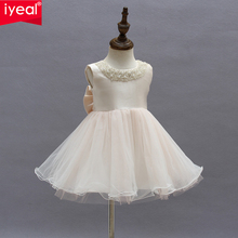 IYEAL Flower Girls Dress For Wedding And Party Infant Princess Little Girl Dresses Toddler Costume Baby Kids Clothes robe fille(China)