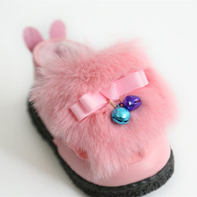 Insole 11-13cm Winter New Baby Shoes Warm Thick Girl First Walker with Bell(China)