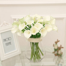 White lily artificial flowers promotion shop for promotional white white calla lily artificial flower wedding decoration real touch fake flowers home decor party decoration accessories junglespirit Choice Image