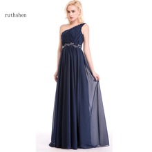 ruthshen Prom Dress Chiffon Long Formal Gown Evening Dresses Beaded Pleated Elegant One Shoulder New Arrival Evening Gown(China)