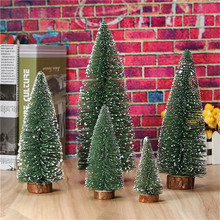 11-25cm Christmas Artificial Tree Xmas Artificial Christmas Navidad Xmas Tree Party Supplies Neon Table Desk Decoration For Home(China)