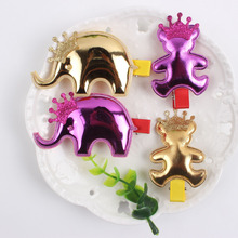 1pcs PU animal cartoon bear elephant hairpin Perfect combination crown Fashion girl clip Hair Accessories for kids barrettes