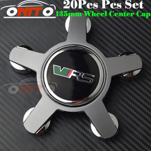 20pcs 135MM 5claw black /gray base wheel center Cover for VRS Car Logo Badge Emblem Car Auto wheel hub cap(China)