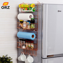 ORZ Refrigerator Broadside Shelf Rack Sidewall Multipurpose Shelf Crack Storage Rack Multi-layer Kitchen Organizer(China)