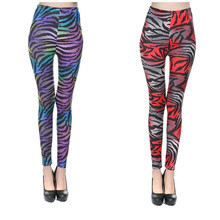 Ling Sylphy Female Clothing 2 Color Milk Silk Zebra Female Leggings Fashion Slim Elastic Leggings Capris