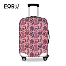 FORUDESIGNS Sweet Lace Designs Luggage Protective Cover Thick Elastic Waterproof Travel Luggage Covers for 18-30 Inch Suitcase