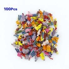 New 100pcs Painted Model Train People Figures Scale N (1 to 150)
