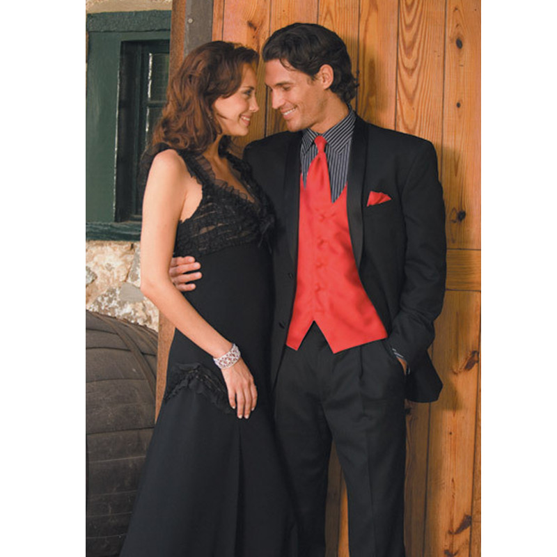 12.1 New New Style Custom Made Handmade Black Groom Tuxedos Wedding Suits Formal Party Suits Blazers (Jacket+Pants+Vest)