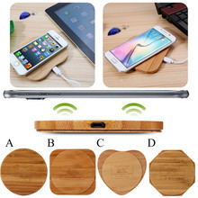 Bamboo Mobile Phone Wireless Chargers Universal Home Furnishing Desktop Charger Phone Accessories for iPhone 8 and for Samsung(China)