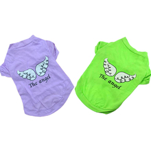 1 PC Pet Clothes For Small Dogs Cats XS-L Dog Pet Spring Summer The Angel Vest Sleeveless T-Shirts Clothes Wholesale D19(China)