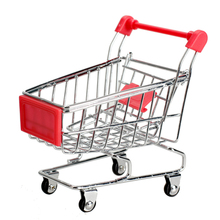 Cute Child Storage Box For Toys Mini Supermarket Handcart Shopping Utility Cart Mode Toy Storage Red Container For Toys(China)
