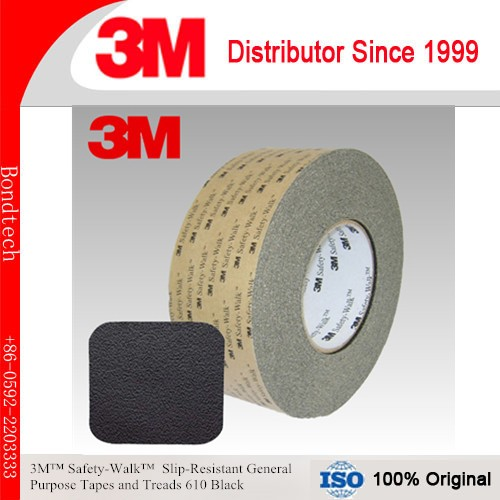 3M Safety Walk Anti-Slip tape and Tread 610, Black, 2inX60FT<br>