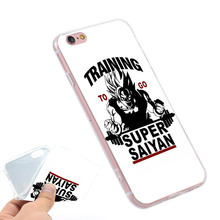 Training To Go Super Saiyan Dragon Ball Z  Clear Soft TPU Slim Silicon Phone Case Cover for iPhone 4 4S 5C 5 SE 5S 7 6 6S Plus