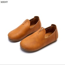 MXHY-Spring and autumn new Korean children grandmother shoes boys comfortable soft leather shoes Peas Princess girls shoes 26-30