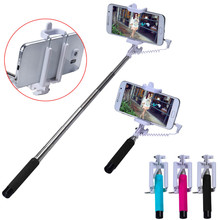 Super Mini 15.5-63cm Selfie Stick For iPhone & Android Phone Handheld Extendable Monopod Self Portrait Stick Tripod Monopod Stic(China)