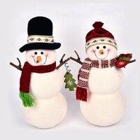 Lovely Christmas Snowman Dolls Navidad Figurine Christmas tree Ornaments Kids Christmas Gifts Toy