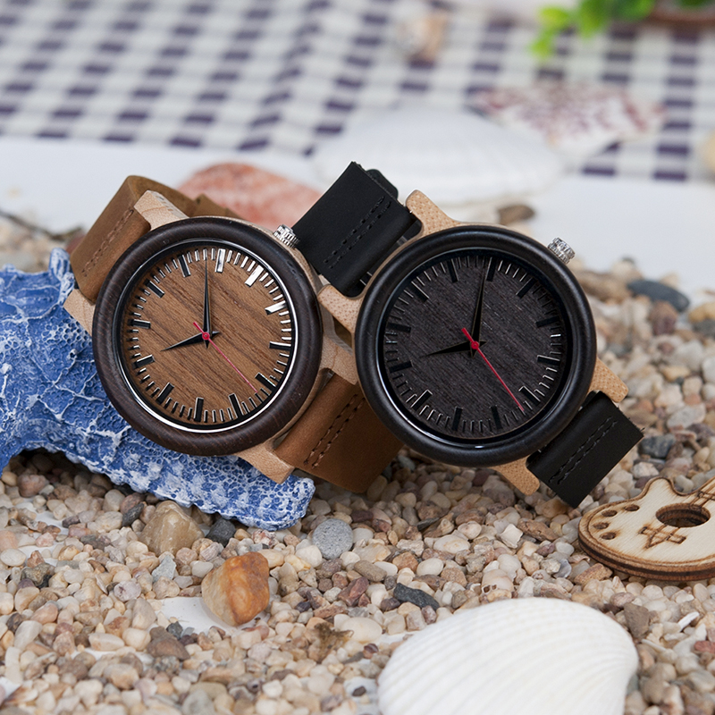 BOBO BIRD High Quantity Mens Wooden Quartz Watch with Leather Strap as Gift Customized Logo relojes hombre 14