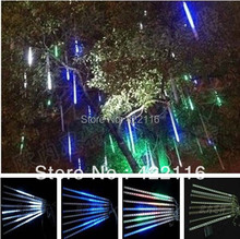 1 set 8 Tube 30 cm 18 LED total 144 LED Meteor Shower Rain Tube Light Outdoor Tree Decoration AC 220V 110V-240V Wholesale!