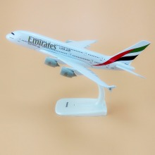 Alloy Metal Air EMIRATES A380 Airlines Airplane Model United Arab Emirates Airbus 380 Airways Plane Model Aircraft Gifts 20cm(China)