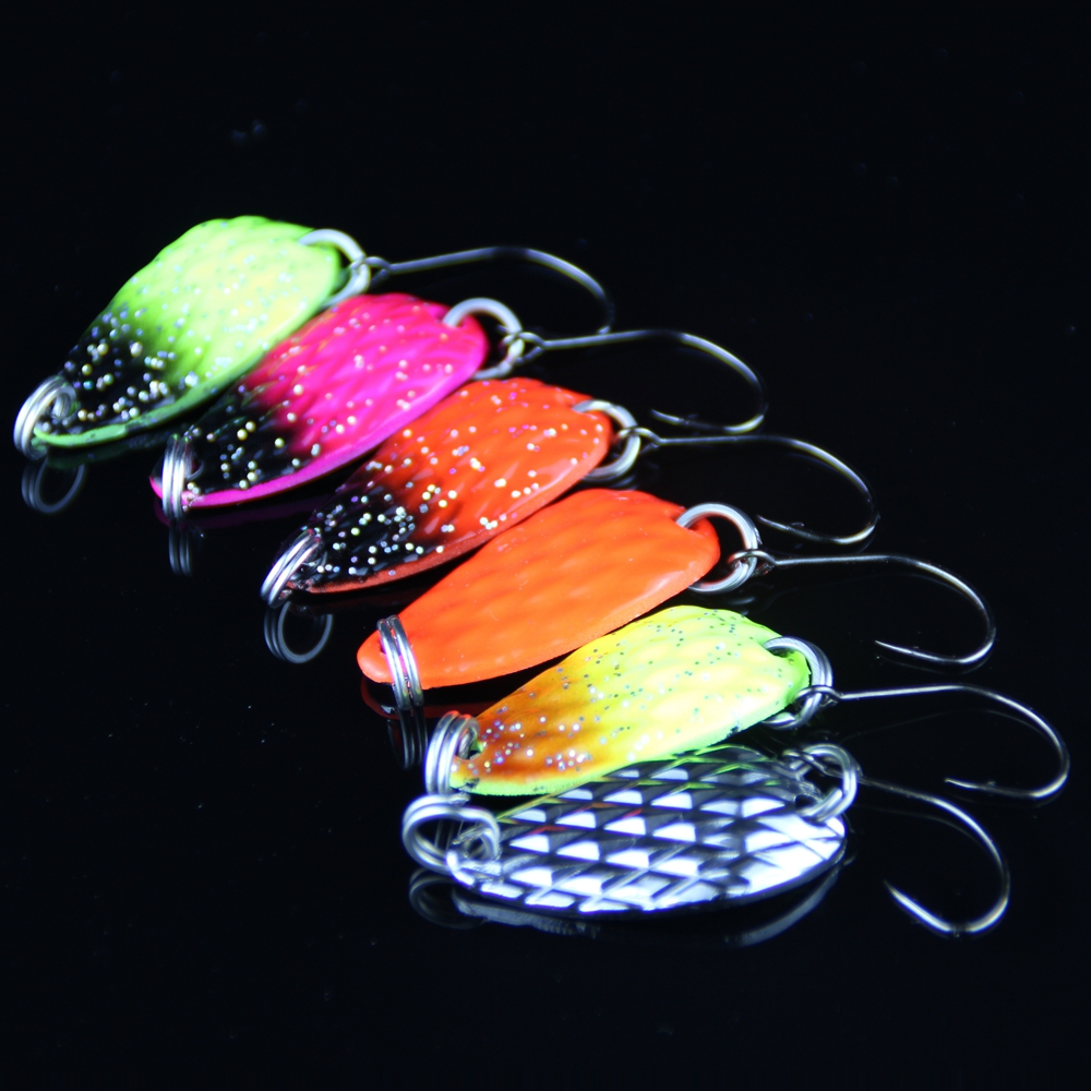 8pcs Fishing Lure Spoon 3cm 3.5g Hard Bait Metal Lures Isca Artificial Wobbler Micro Trout Spoon Bait Fishing Tackle Pesca 1 (1)