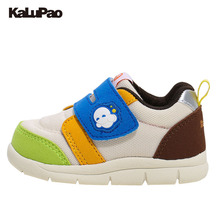 KALUPAO Summer Kids Casual Shoes Male Female Soft Anti-Slip Baby Toddler Shoes Wide Toe Cap PU First Walker Fashion Sneakers(China)