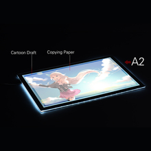 A2 60*40cm 26 inch LED Artist Stencil Board Tattoo Drawing Tracing Table Display Light Box Pad LED Copy Board Intelligent Touch