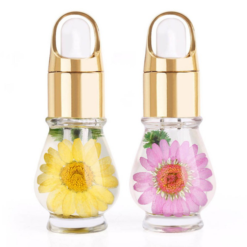 15mL Nutritional Nail Polish Oil UV Gel Dry Dried Flowers Nourishment Oil Nail Cuticle Tools Nail Treatment 1 Bottle 3