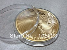 New free shipping 20pcs/lot wholesale ONE TROY OUNCE King of Pop Michael jackson 1oz 24K pure GOLD clad plated souvenir coins(China)