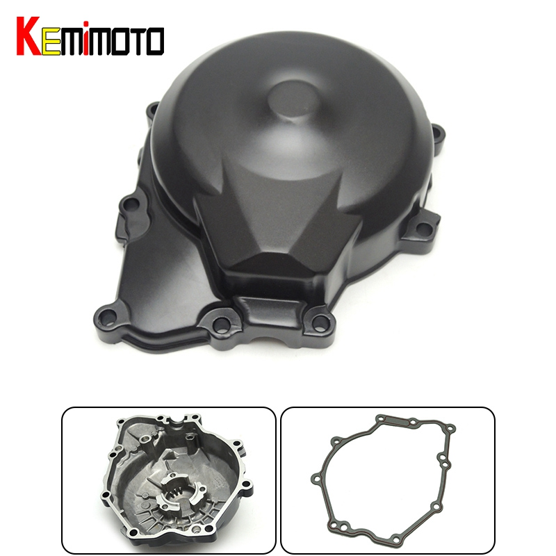 For Yamaha R6 2006-2012 Engine Cover Crank Case with Gasket Fit for Yamaha YZF R6 2006 2007 2008 2009 2010 2011 2012<br>