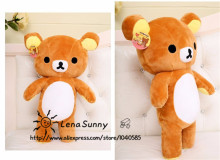 2015 New 35cm kawaii cute brown japanese style rilakkuma plush toy, teddy bear stuffed animal doll Girl birthday gift