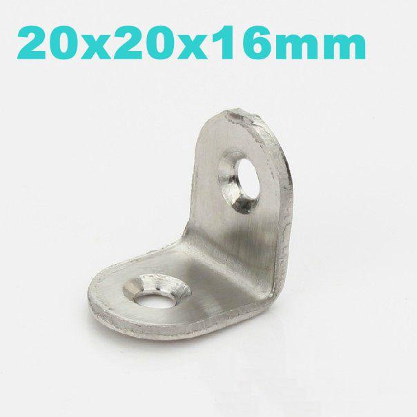 Stainless Steel Bracket, Corner Bracket,Furniture Fittings, Angle Bracket, Shelf Bracket 20mmx20mmx16mm<br><br>Aliexpress