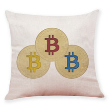 Buy 45 * 45cm Bitcoin Cushion Cover Bitcoin Decorative Coins Throw Pillowcase commemorative coins Pillow Covers Home Decor for $2.21 in AliExpress store