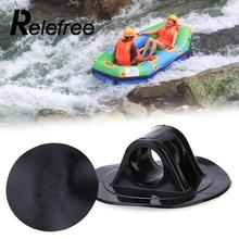 Relefree 2pcs PVC Rubber Boat Inflatable Motor Stand Holder Black Buckle Part Accessories Kit(China)